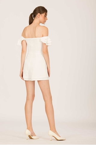 Show details for Darumo Romper (White)