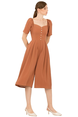 Picture of Dabefuy Jumpsuit Cullotes (Brown)