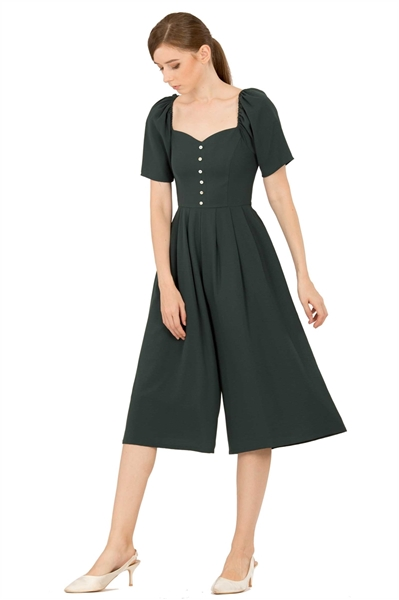 Picture of Dabefuy Jumpsuit Cullotes (Dark Green)
