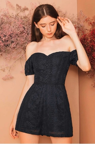 Show details for Derijx Romper (Navy)