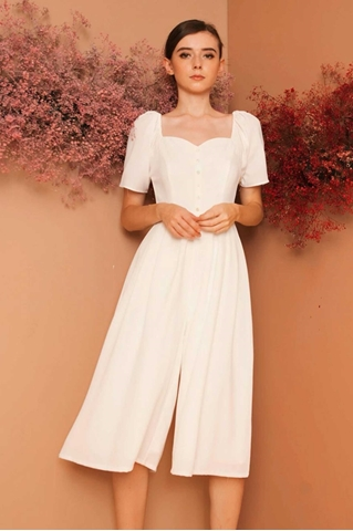 Show details for Dabefuy Jumpsuit Cullotes (White)