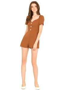 Picture of Drufaxic Romper (Brown)