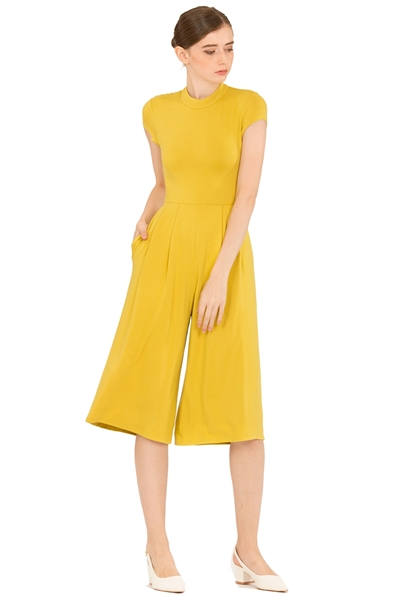 Picture of Dimercow Jumpsuit Cullotes (Lime Yellow)