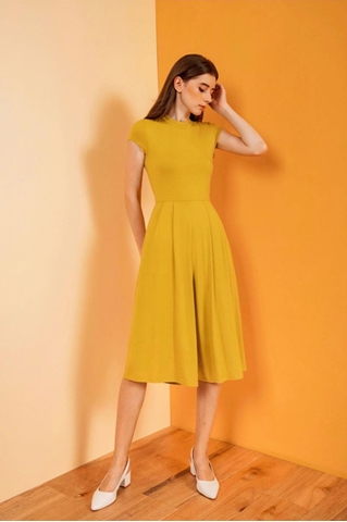 Show details for Dimercow Jumpsuit Cullotes (Lime Yellow)