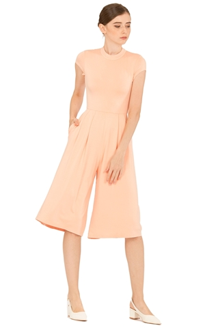 Picture of Dimercow Jumpsuit Cullotes (Peach)