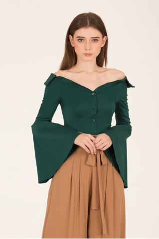 Show details for Darlianli Top (Dark Green)