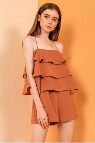 Show details for Dunugara Romper (Brown)