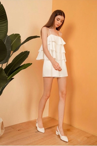 Show details for Dunugara Romper (White)