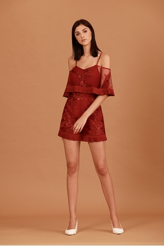 Show details for Dakarual Romper (Red)