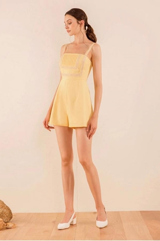 Show details for Damiokar Romper (Powder Yellow)
