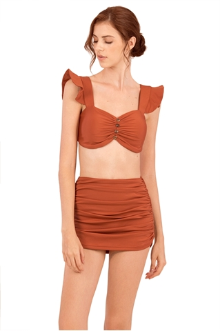 Picture of Demienyur Bikini Top (Brown) (Non Returnable)