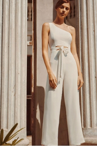 Show details for Divuze Jumpsuit (White)