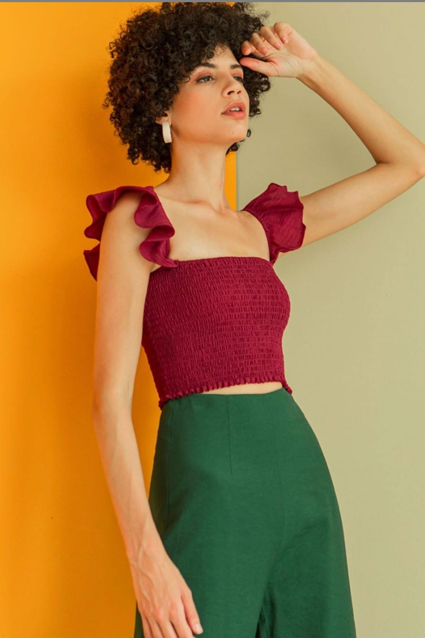 Picture of Desmoce Top (Maroon)