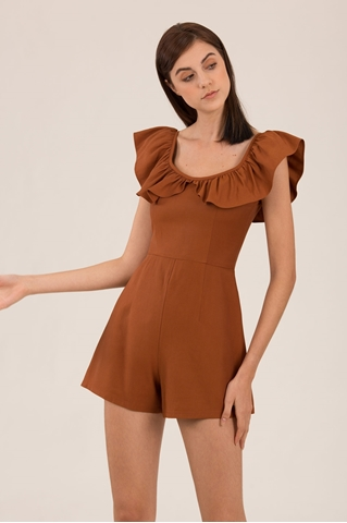 Show details for Damibir Romper (Brown)