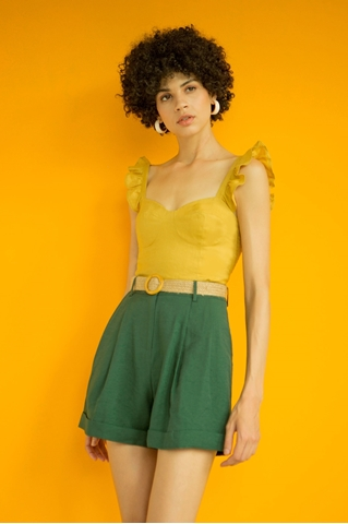 Show details for Drynnly Top (Olive Yellow)
