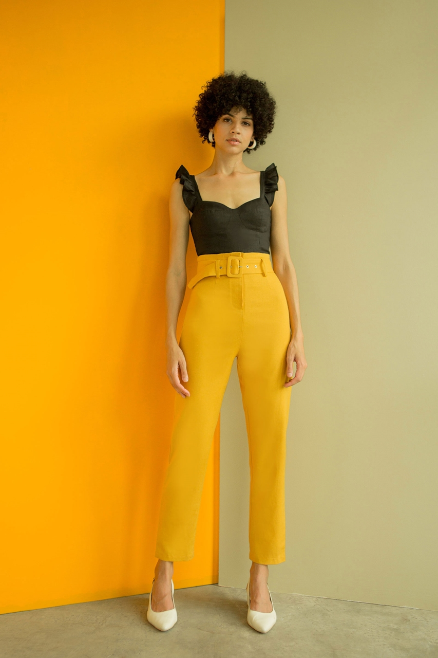Picture of Dyvivi Pants (Mustard)