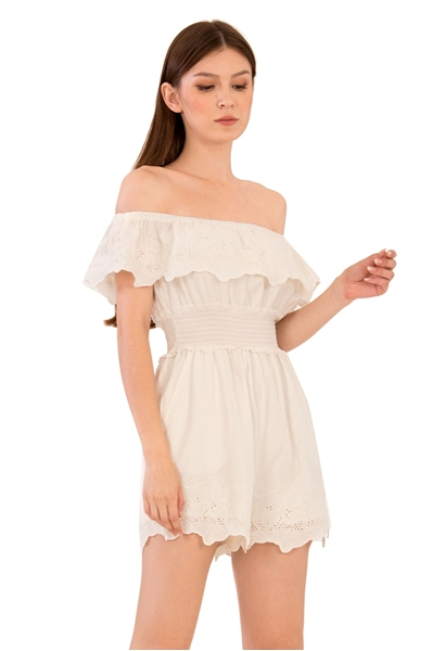 Picture of Devalentina Romper (White)