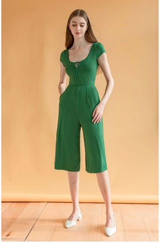 Show details for Dalamixy Jumpsuit Cullotes (Green)