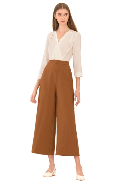 Picture of Dreslyio Jumpsuit (White+Brown)