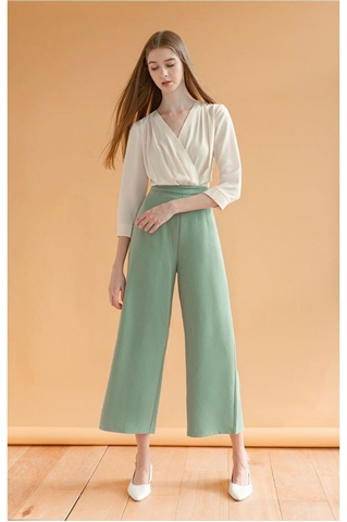 Show details for Dreslyio Jumpsuit (Cream+Turquoise)