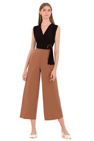 Picture of Dohaxita Jumpsuit (Black+Brown)