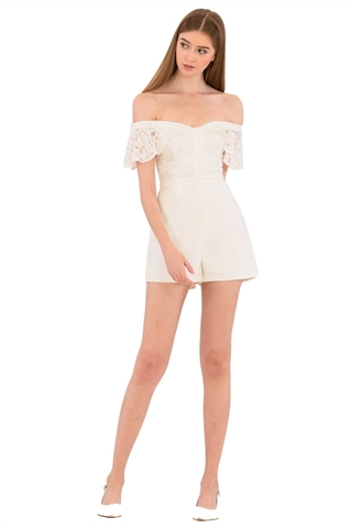 Show details for Deheidi Romper (White)