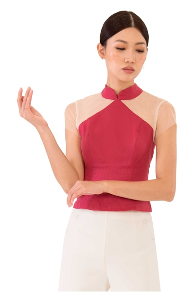 Picture of Dashujing Top (Dusty Red)