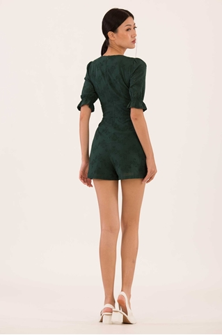 Show details for Danaliong Romper (Green)