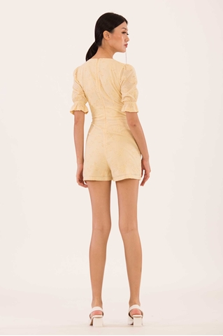 Show details for Danaliong Romper (Powder Yellow)