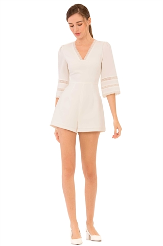 Show details for Danines Romper (White)
