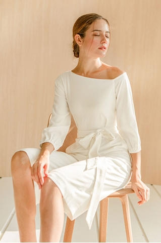 Picture of New Derkayra Jumpsuit Cullotes (White)