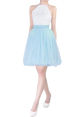 Show details for Dherlyn Skirt (Powder Blue)