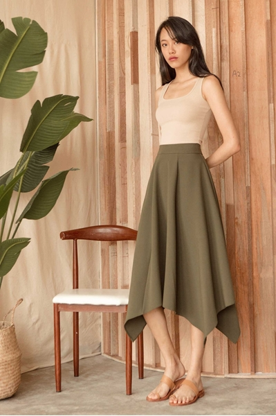 Picture of Dihorio Skirt (Army Green)