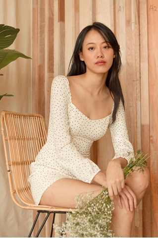 Show details for Dinure Romper (Cream)