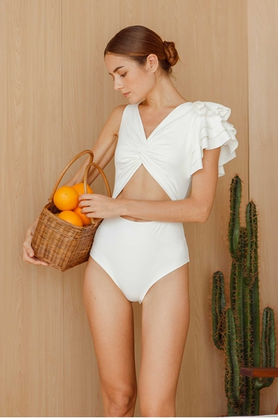 Picture of Detiza Bodysuit/ Swimsuit (White)