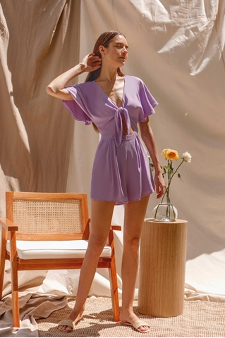 Show details for Dioniz Romper (Lilac)