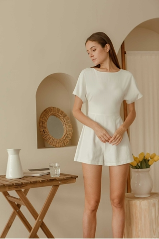 Show details for Domurea Romper (White)