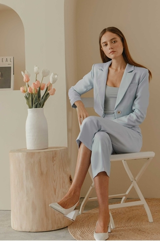 Show details for Daluer Blazer (Powder Blue)