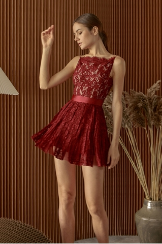 Picture of Dojuyre Skort Dress (Maroon)