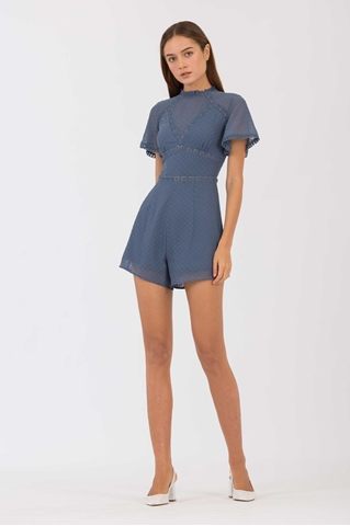 Show details for Damiator Romper (Dusty Blue)