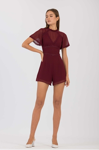 Show details for Damiator Romper (Maroon)