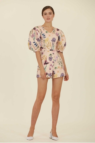 Show details for Deceruq Romper (Peach)