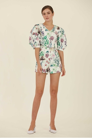 Show details for Deceruq Romper (White)