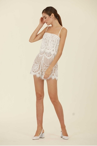 Show details for Doviesie Romper (White)