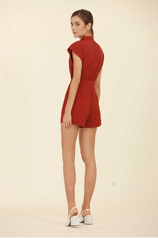 Show details for Dolievin Romper (Dull Red)